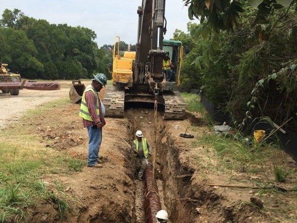 WTCPUA 12 Inch Wastewater Force Main & 12 Inch Effluent Force Main, WTCPUA, Pipe Installation, Trench Excavation, Pipe, Utility Work